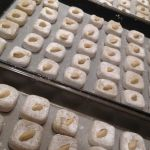 Almond soft amaretti 'things' ready for the oven