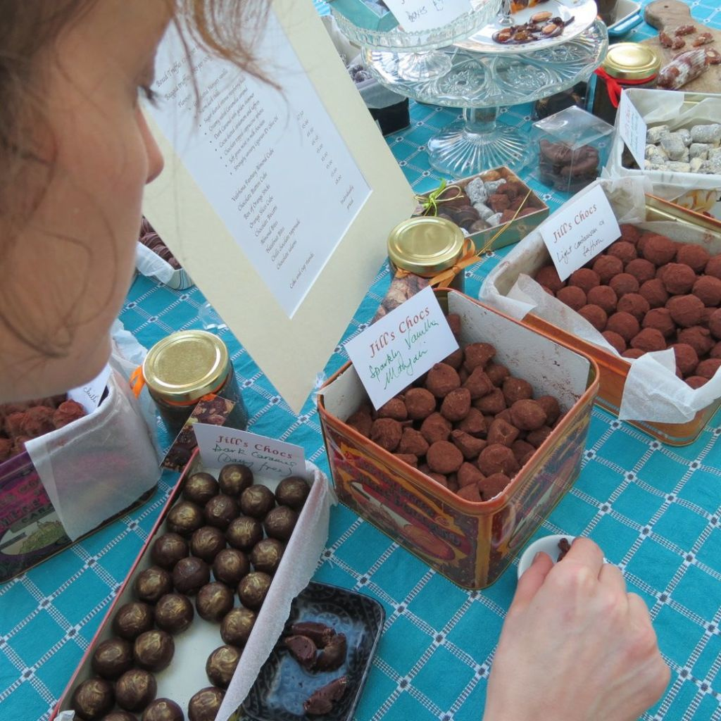 Anna working her way round the chocolate tasting morning