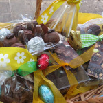 Easter basket of chocolate ready for Sunday